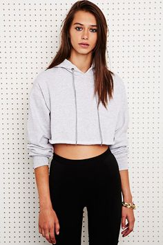 Sparkle & Fade Crop Hoodie at Urban Outfitters