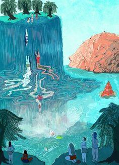 Amazing Illustration Work by Lily Padula Phenomena Pretty Art, Cute Art, Art Inspo, Art Hippie, Bel Art, Art Du Collage, Art Mignon, Art Et Illustration, Graphic Design Illustration