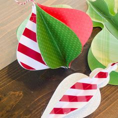 Spruce up your apartment or Christmas tree with these DIY Paper Ornaments. A full tutorial and free template is available! - @ForRent.com