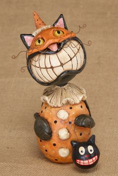 For over a decade, Bayberry Cove has been the premier online source of vintage collectibles and online home decor shopping. Halloween Ornaments, Halloween Cat, Holidays Halloween, Halloween Treats, Vintage Halloween, Happy Halloween, Halloween Decorations, Halloween Stuff, Paper Mache Clay