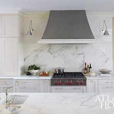 Gray Kitchen Hoods, Transitional, Kitchen, Atlanta Homes & Lifestyles