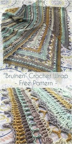 Today I found this adorable & cozy Bruinen Crochet Wrap Pattern designed by talented crochet designer Jasmin Räsänen. The shawl has been worked with hook 4mm and about 1000m yarn. The ready shawl has got a size about 2,07m x 87cm. Link for free pattern is below! Skill Level: Easy, Craft: Crochet, Designed by: Jasmin Räsänen Bruinen Crochet Wrap – #freecrochetpattern #freecrochet #crochet3 #easycrochet #patterncrochet #crochettricks #crochetitems #