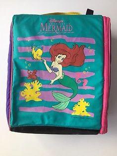 fb84e57690 90s Wiz Locker Bag Disney THE LITTLE MERMAID Ariel Backpack VTG HTF bright