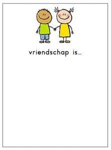 Een tekening laten maken over vriendschap