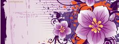 Pretty Purple Flower with Yellow Facebook Cover