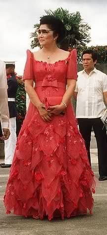 Imelda Marcos Filipiniana dress