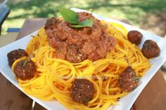 "Raw Spaghetti Bolognese with ""Meatballs"", by Mind the food. Delish!"