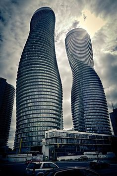 Absolute Towers - Marilyn Monroe Penthouses, Mississauga, Ontario, 2012 by MAD architects #architecture #towers #glass