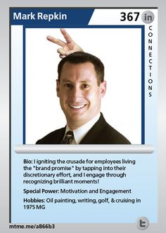 """I igniting the crusade for employees living the """"brand promise"""" by tapping into their discretionary effort, and I engage through recognizing brilliant moments!"""