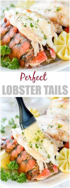 Baked Lobster Tails + Video ~Sweet & Savory by Shinee Baking these beautiful lobster tails in white wine brings out the succulent sweet flavors perfectly and yields melt-in-your-mouth tender meat every time. The easiest way to cook lobster tail! Lobster Tail Oven, Baked Lobster Tails, Broiled Lobster Tails Recipe, Best Lobster Tail Recipe, Lobster Sauce, Meat Cooking Times, Cooking Recipes, Healthy Recipes, Recipes