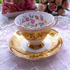 Gladstone Treasure Hunting, Gladstone, Chocolate Cups, Teacups, Cup And Saucer, Tea Time, Tea Pots, China, Queen
