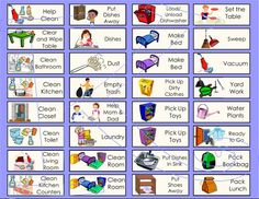 Childrens Chore Charts for Allowance or Commission by Kidsentials