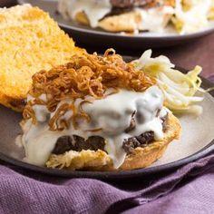 Mornay and Mushroom Duxelles Burger With Crispy Shallots Recipe