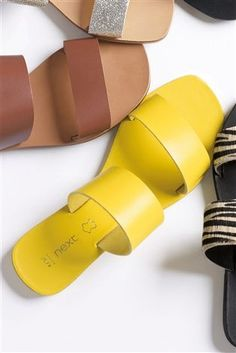 Buy Yellow Two Band Sandals from the Next UK online shop