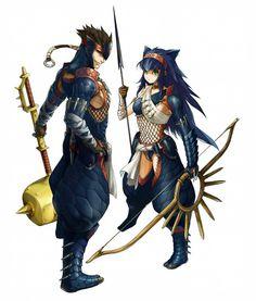 Nargacuga Armors - Male and Female