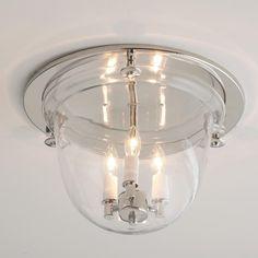 Flush Ceiling Bell Lantern... alternative to the boob light.