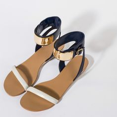 Ankle Strap Wedges - White - Wedges - Shoes | CHARLES & KEITH