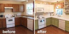Microwave hood, add detail legs around sink, change window treatment and lighting
