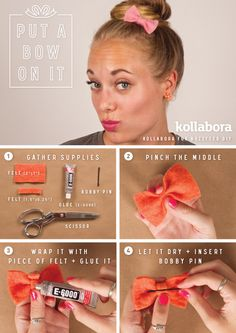 Felt Hair Bow I 10 DIY Ways To Put A Bow On It