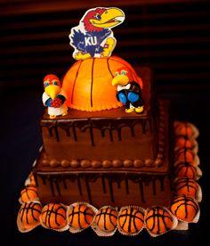 Jayhawk Cake - My husband wouldn't have had it any other way! Rock Chalk Jayhawk!