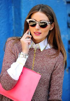 Fashion it-girl Olivia Palermo chatted on her phone (sporting bangles from the new Tiffany Atlas® Collection) in New York City