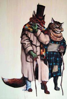 il gatto e la volpe furbacchioni!!
