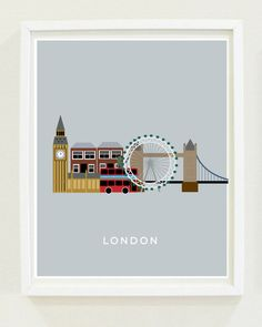 Home Decor: Modern Art Print - London - Cities Series - England - For The Home - Wall Art - INSTANT DOWNLOAD