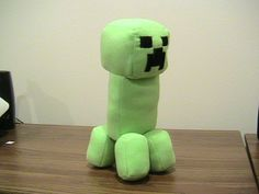 Minecraft Stuffed Creeper Doll- since my boys enjoy the game, free pattern and tutorial.