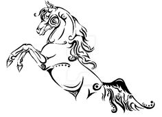 Tribal Horse Tattoo Design by DinoGirl500 on DeviantArt