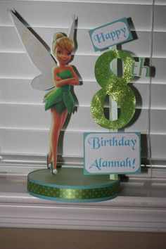 Tinkerbell Custom Birthday Party Centerpiece by DivineDecorations, $16.95