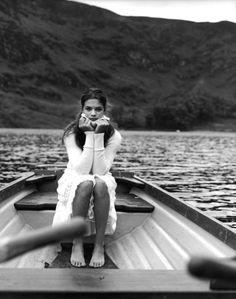 Girl in boat.