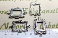 6 pcs per pack 20x28mm Rectangle Frame by TibetanSilverNmore