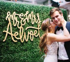 Wedding Wood Cutouts Gold Letters Nashville Wedding