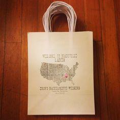 Recent hand made bachelorette bags created for Etsy customer by wright4design. #etsy #bachelorette #giftbag #tennessee #pinkboot #pink #handmade #whitebag #weddinggiftbag #nashville http://www.etsy.com/shop/wright4design