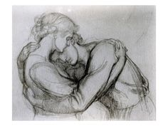 STUDY FOR 'THE BLESSED DAMOZEL', C.1876 (GRAPHITE ON PAPER)  Dante Charles Gabriel Rossetti