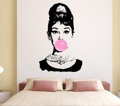 Audrey Hepburn Bubble Gum Beauty Hair Salon Naklejka Naklejka Mural Art Vinyl Home Decor Naklejka Ścienna Inteior YO 132 w 34273839 Model Nr: YO-132 rozmiar 57x70 cm materiał: nie toxi przyjazne dla środowiska PCV cechy: 1. Sprawa dla deko od Wall Stickers na Aliexpress.com | Grupa Alibaba
