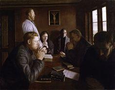 Niels Bjerre A Prayer Meeting 1897
