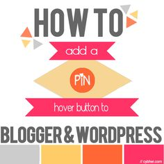 How to add a custom pin hover button to your blog - Cybher