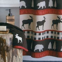 Marvelous Moose Shower Curtains And Bathroom Decor Look Great In A Rustic Lodge Theme Of