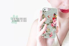 Floral iPhone Case / Floral iPhone 5 Case Floral by afterimages