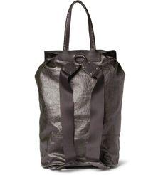 Bottega Veneta Men's Coated Linen-Canvas and Leather Backpack0 #bagsforsale