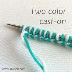 Want to start a brioche or double knitting project? Take a look at this tutorial on how to make a two-color cast-on! It also works really well to give your project a decorative edge.  http://ift.tt/290JwAa  #tutorial #knitting #breien #lavischdesigns