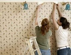 How To Paint Over Wallpaper Removing Old Wallpaper Old Wallpaper Remove Wallpaper Glue