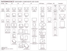 paper and envelope size reference list for graphic designers, Wedding invitations