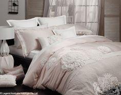 Bella Blush Bed Linen by Ultima from Harvey Norman NewZealand Master Bedroom, Bedroom Decor, Bedroom Ideas, Harvey Norman, Quilt Cover Sets, Diy Pillows, Linen Bedding, Bed Linen, Bed Design