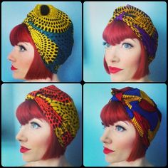 Amber+Jane+Seeds+of+Summer+Ankara+Turban+by+AkhuDesigns+on+Etsy,+£12.50