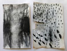 abstract charcoal doodling and mark making by Ines Seidel