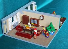 Lego house at Christmas