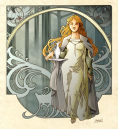 Lady Galadrielby ~shyangell (aka Artanis)                   My finished version of Lady Galadriel, the White Lady of Lothlórien. Also knwon as Altariel, Nerwen or Alatáriel to those who are tolkien geeks and engoy enormously to submerge ourselves in the occult. Father : Finarfin Mother: Earwen Husband: CelebornChildren: Celebrian, Amroth (in some early versions of the mythos)