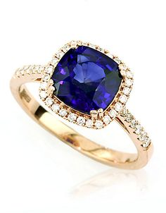14K Rose Gold, Diamond And Diffused Sapphire Ring | Hudson's Bay